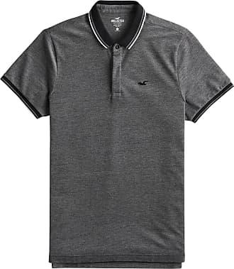 Hollister Poloshirt schwarz / graumeliert