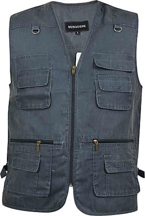 True Face Mens Waistcoat Safari Gilet Jacket Blue 3XL