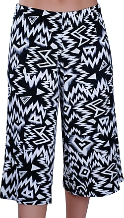 Eyecatch Cosima Ladies Wide Leg Modern Womens Culottes Shorts Trousers Pants
