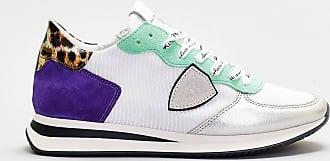 Philippe Model Philippe model - sneaker running dettagli viola e animallier- bianco