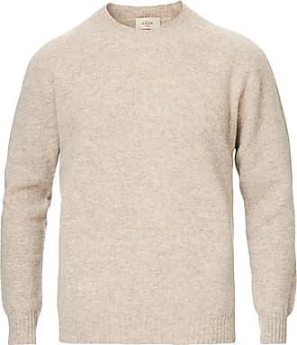 Altea Shetland Crew Neck Sweater Sand