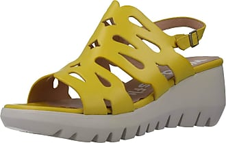 Wonders Women Sandals and Slippers Women D9003 Yellow 5.5 UK