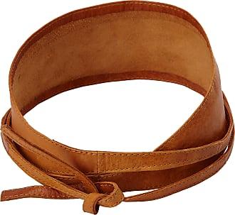 Pieces Womens VIBS LEATHER TIE WAIST BELT NOOS Belt, Brown (Cognac), 70 cm