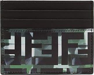 Fendi Camouflage-print Monogram Leather Cardholder - Mens - Green Multi