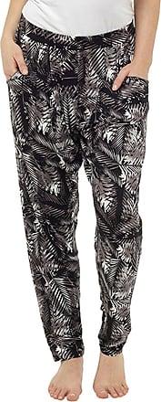 Tom Franks Womens Lightweight Hareem Summer Trouser Bottoms Lounge Wear Pants - Black - One Size