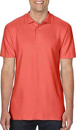 Gildan Mens Softstyle Double Pique Polo Shirt (XXL) (Bright Salmon)