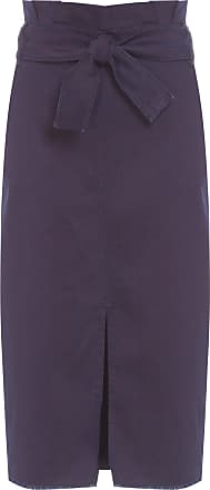 Dudalina Saia Jeans Com Cinto - Azul