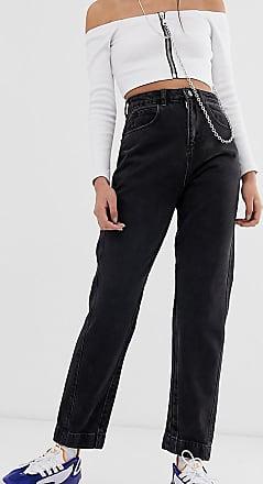 Collusion x006 - Mom-Jeans in verwaschenem Schwarz