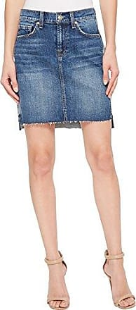 492029164f 7 For All Mankind Womens Short Skirt with Reverse Step Side Panel, Mojave  Dusk,