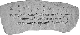 Kay Berry Outdoor Kay Berry Perhaps The Stars In The Sky Memorial Bench - 29 in. Cast Stone - 36620