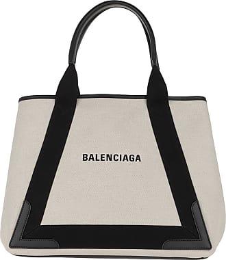 Balenciaga Tote - Canvas Tote Bag Natural/Black - beige - Tote for ladies