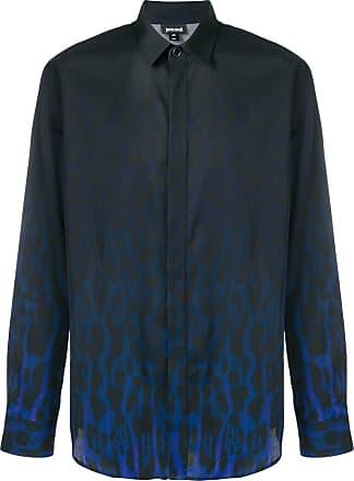 Just Cavalli Camisa com animal print - Azul