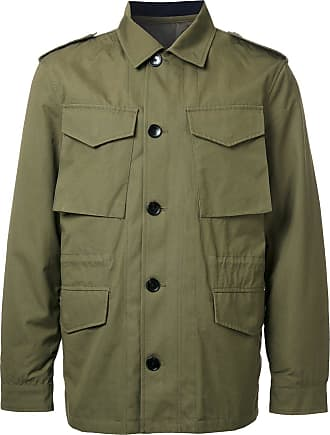 Kent & Curwen detachable quilted military jacket - Green