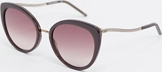 Karl Lagerfeld Ikonic round sunglasses in taupe-Brown