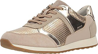 Geox Womens DEYNNA 3 Sneaker, Light Taupe, 35 M EU (5 US)