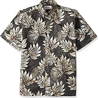 94c25331a Reyn Spooner Mens Spooner Kloth Classic Fit Hawaiian Shirt, Moamahi - Onyx S