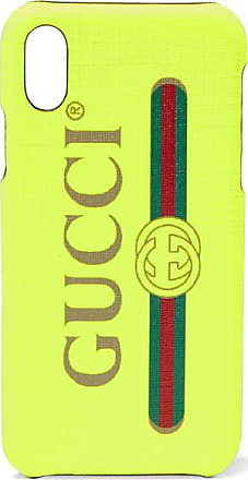 Gucci Printed Textured Iphone X Case - Bright yellow