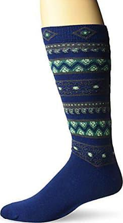 Ozone Mens Sultan Stripes Sock, Navy, 10-13