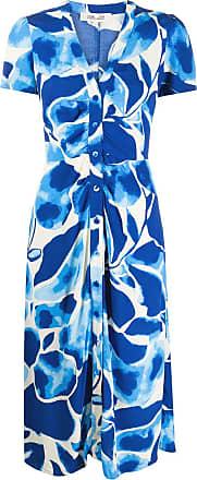 Diane Von Fürstenberg Vestido envelope com estampa - Azul