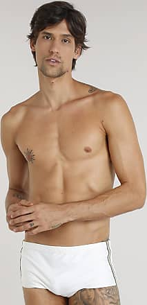 ab06352b1 Água de Coco Sunga Masculina Água de Coco com Faixa Lateral com Proteção  UV50+ Off White