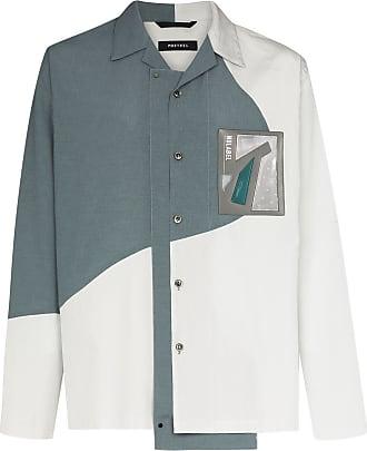 Nulabel Jaqueta color block de algodão - Cinza