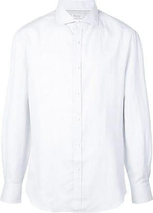 Brunello Cucinelli Camisa listrada - Cinza