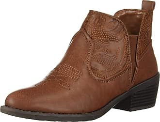 Easy Street Womens Legend Ankle Boot, Tan/Tan Embossed, 5.5 UK
