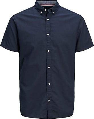 Jack & Jones Button-Down Kurzarmhemd blau