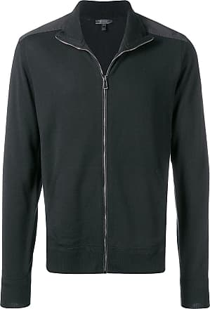 Belstaff zip front high neck jacket - Preto