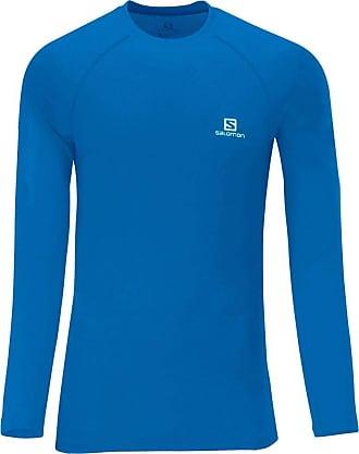Salomon Camiseta Masculina Manga Longa Hybrid S60203 Azul - Salomon - GG
