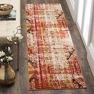 Safavieh Monaco Collection MNC222H Modern Bohemian Orange Distressed Runner Rug (22 x 12)