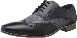 Bugatti Mens 3124201a3500 Derbys, Blue (Blue 4000), 10.5 UK