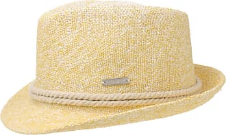 07c21141 Seeberger Nicole Twotone Trilby Straw Hat Sun Beach (One Size -  Yellow-Mottled)