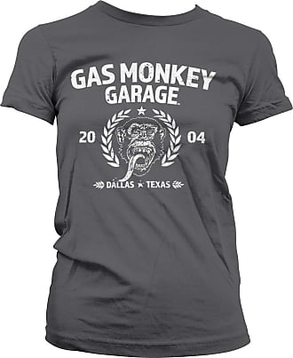 Gas Monkey Garage Officially Licensed Emblem T-Shirt (Dark Grey), XXL