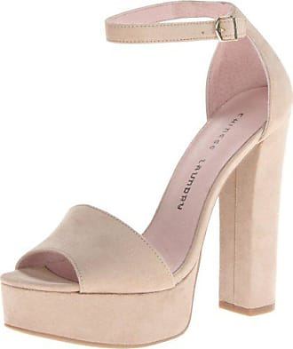 Chinese Laundry Womens Avenue Platform Pump, Beige Suede, 10 M US