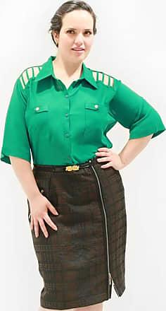 Vickttoria Vick Camisa Treliça Plus Size (46)