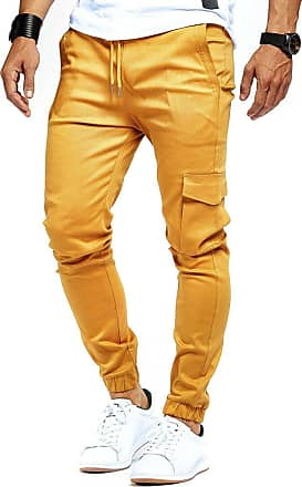 LEIF NELSON Mens Cargo Pants Chino Chino LN-8071 Camel XX-Large
