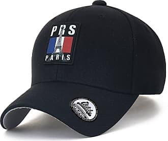 Ililily PRS Printed Patch Baseball Cap Solid Color Cotton Strapback Trucker Hat, Black