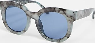 Jeepers Peepers Occhiali da sole rotondi con stampa blu effetto marmo