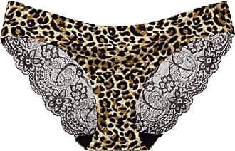 Abetteric Calcinha feminina Abetteric de renda macia, sem aro, de algodão, cintura baixa, pacote com 3, 12, Medium (fits like US Small)