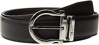 Salvatore Ferragamo Adjustable Reversible Belt - 679781 (Black/Hickory) Mens Belts