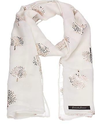 Swankyswans Mulberry Tree Celebrity Designer Scarf Womens Scarf Shawl Wrap Ladies Long Scarf - SWANKYSWANS (RG White)