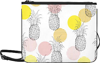 Yushg Crossbody Bag Clutch Summer Fresh Outline Pineapple Seamless Adjustable Shoulder Strap Cross Body Bag For Girls For Women Girls Ladies Handbag Handles