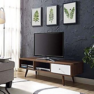 ModWay Modway Transmit Mid-Century Modern Low Profile 55 Inch TV Stand in Walnut