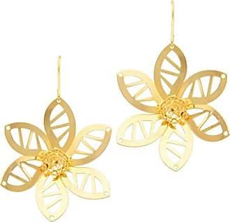 Tinna Jewelry Brinco Dourado Flor De Folhas Pequenas