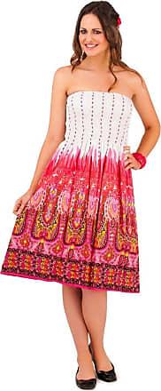 Lora Dora Womens 2 in 1 Strapless Beach Summer Dress White/Red Medium