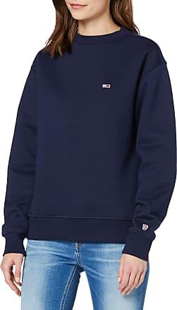 Tommy Jeans Womens TJW Tommy Classics Sweatshirt, Blue (Black Iris 002), 6 (Size:XS)