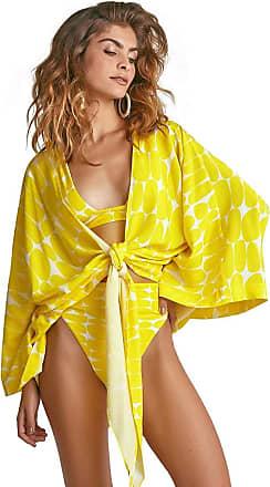 Empress Brasil Kimono Empress Brasil Ibiza Estampa Leblon Amarelo