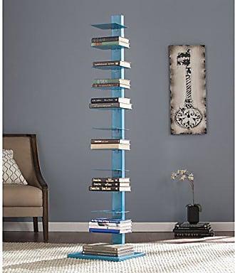 Southern Enterprises AMZ1949ZH Spine Tower Shelf, Bright Cyan