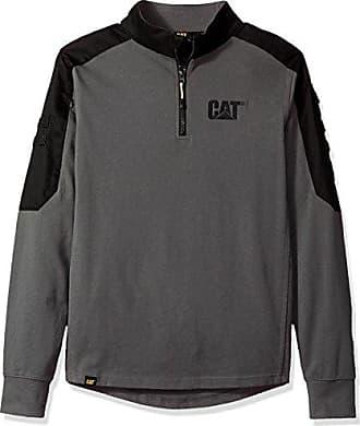 CAT Workwear Mens Tactical Quarter Zip Multi Pocket Work Sweatshirt